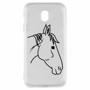 Phone case for Samsung J3 2017 Horse portrait lines profile