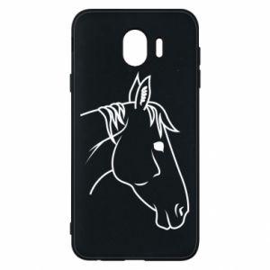 Phone case for Samsung J4 Horse portrait lines profile