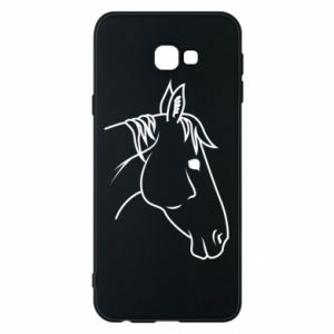 Phone case for Samsung J4 Plus 2018 Horse portrait lines profile