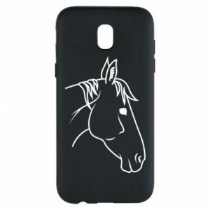 Phone case for Samsung J5 2017 Horse portrait lines profile