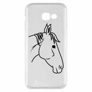 Phone case for Samsung A5 2017 Horse portrait lines profile