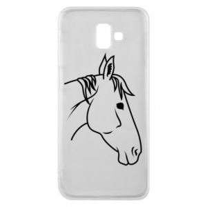 Phone case for Samsung J6 Plus 2018 Horse portrait lines profile
