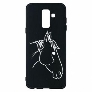 Phone case for Samsung A6+ 2018 Horse portrait lines profile