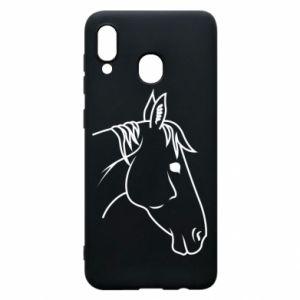 Phone case for Samsung A30 Horse portrait lines profile
