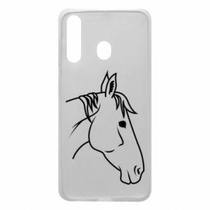 Phone case for Samsung A60 Horse portrait lines profile