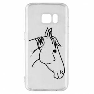Phone case for Samsung S7 Horse portrait lines profile