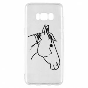 Phone case for Samsung S8 Horse portrait lines profile