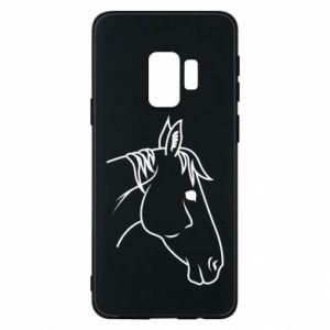 Phone case for Samsung S9 Horse portrait lines profile