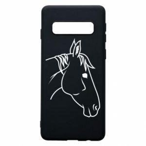 Phone case for Samsung S10 Horse portrait lines profile