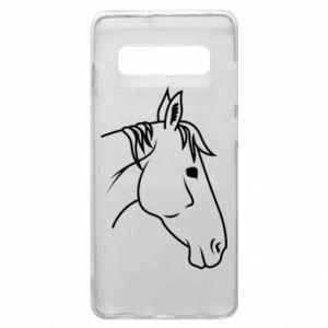 Phone case for Samsung S10+ Horse portrait lines profile