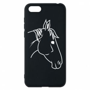 Phone case for Huawei Y5 2018 Horse portrait lines profile