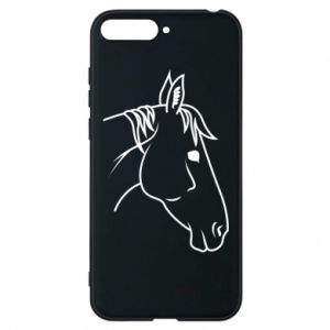 Phone case for Huawei Y6 2018 Horse portrait lines profile
