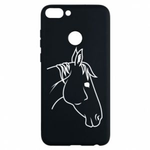 Phone case for Huawei P Smart Horse portrait lines profile