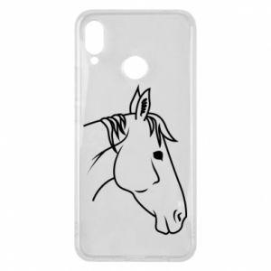 Phone case for Huawei P Smart Plus Horse portrait lines profile