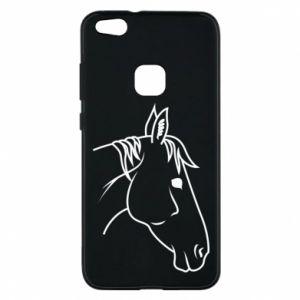 Phone case for Huawei P10 Lite Horse portrait lines profile