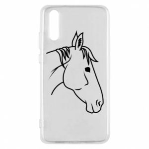 Phone case for Huawei P20 Horse portrait lines profile