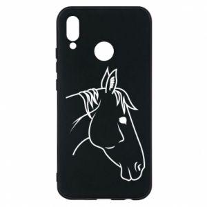 Phone case for Huawei P20 Lite Horse portrait lines profile
