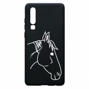 Phone case for Huawei P30 Horse portrait lines profile