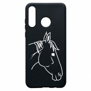 Phone case for Huawei P30 Lite Horse portrait lines profile