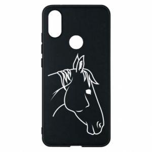 Phone case for Xiaomi Mi A2 Horse portrait lines profile