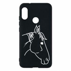 Phone case for Mi A2 Lite Horse portrait lines profile