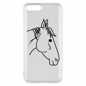 Phone case for Xiaomi Mi6 Horse portrait lines profile