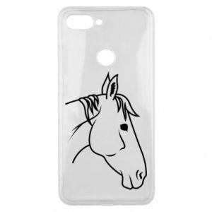 Phone case for Xiaomi Mi8 Lite Horse portrait lines profile