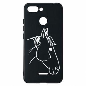 Phone case for Xiaomi Redmi 6 Horse portrait lines profile
