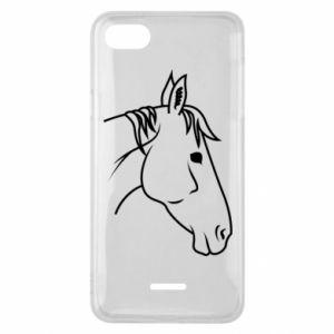 Phone case for Xiaomi Redmi 6A Horse portrait lines profile