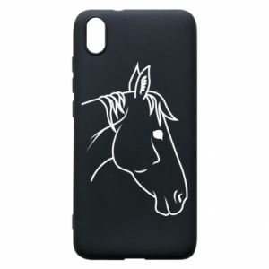 Phone case for Xiaomi Redmi 7A Horse portrait lines profile
