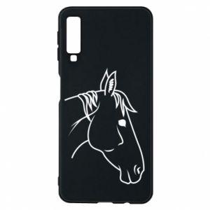 Phone case for Samsung A7 2018 Horse portrait lines profile