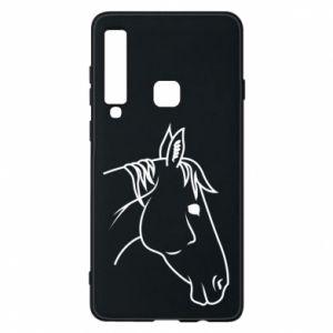 Phone case for Samsung A9 2018 Horse portrait lines profile