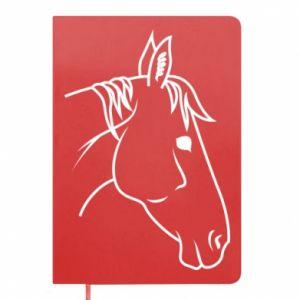 Notepad Horse portrait lines profile