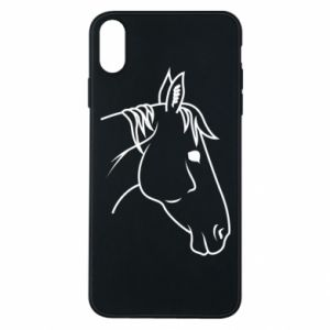Phone case for iPhone Xs Max Horse portrait lines profile