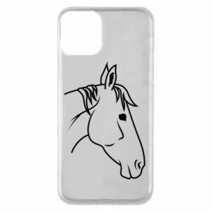 Phone case for iPhone 11 Horse portrait lines profile