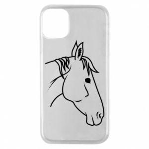 Phone case for iPhone 11 Pro Horse portrait lines profile