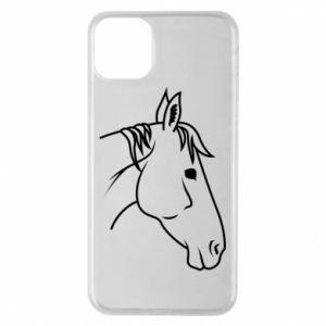 Phone case for iPhone 11 Pro Max Horse portrait lines profile