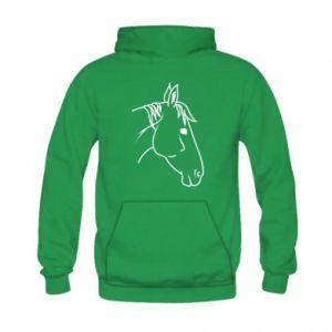 Bluza z kapturem dziecięca Horse portrait lines profile