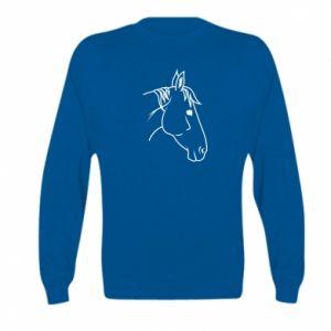 Bluza dziecięca Horse portrait lines profile