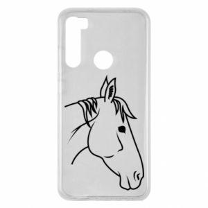 Etui na Xiaomi Redmi Note 8 Horse portrait lines profile