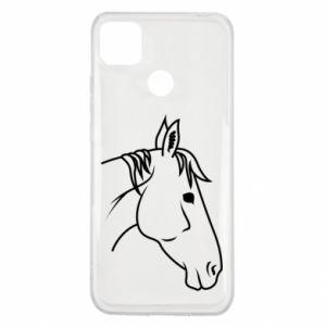 Etui na Xiaomi Redmi 9c Horse portrait lines profile