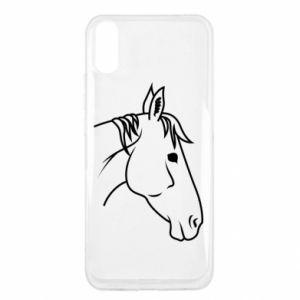 Etui na Xiaomi Redmi 9a Horse portrait lines profile