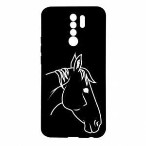 Etui na Xiaomi Redmi 9 Horse portrait lines profile