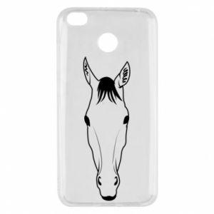 Etui na Xiaomi Redmi 4X Horse portrait with lines