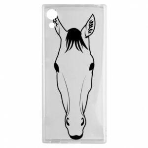 Etui na Sony Xperia XA1 Horse portrait with lines