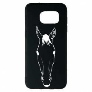 Etui na Samsung S7 EDGE Horse portrait with lines