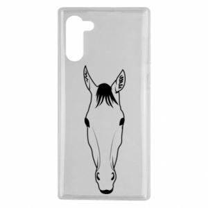 Etui na Samsung Note 10 Horse portrait with lines