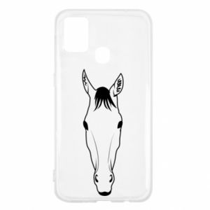 Etui na Samsung M31 Horse portrait with lines