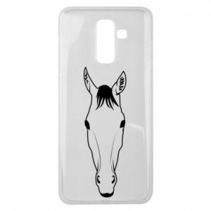 Etui na Samsung J8 2018 Horse portrait with lines