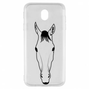 Etui na Samsung J7 2017 Horse portrait with lines